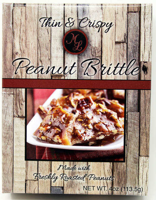 ML2700 4oz Mille Lacs Peanut Brittle box  Tin and Crispy, made with Freshly Roasted Peanuts New for 2020