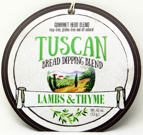 7501 Tuscan Bread Dipping Blend .42oz Made in WI, No MSG, Gluten Free and all Natural