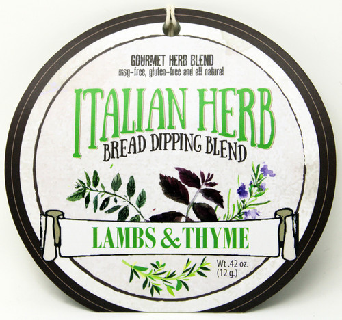 7502 Italian Herb Bread Dipping Blend .42oz, No MSG, Gluten Free and all natural