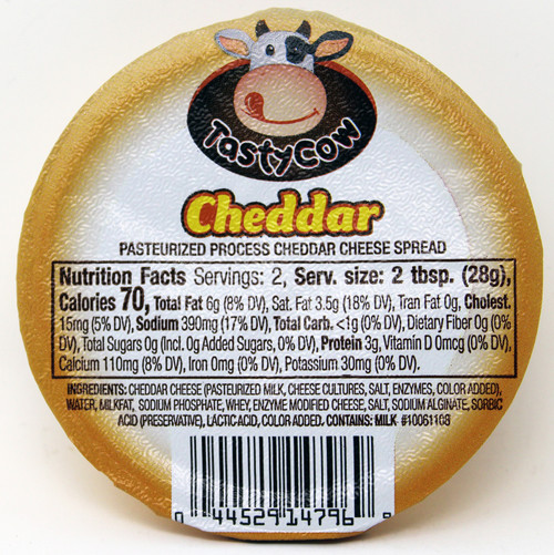 2oz Cheddar Tasty Cow Cheese Spread, Shelf Stable Spreadable Cheese