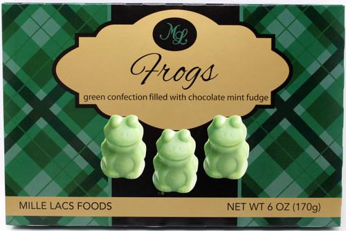 ML48200 6oz Mille Lacs Fudge Mint Frogs Kosher Dairy
