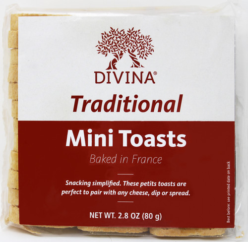 8101 2.8oz Divina Traditional Mini Toasts Product of France Best By Date 1/31/2022