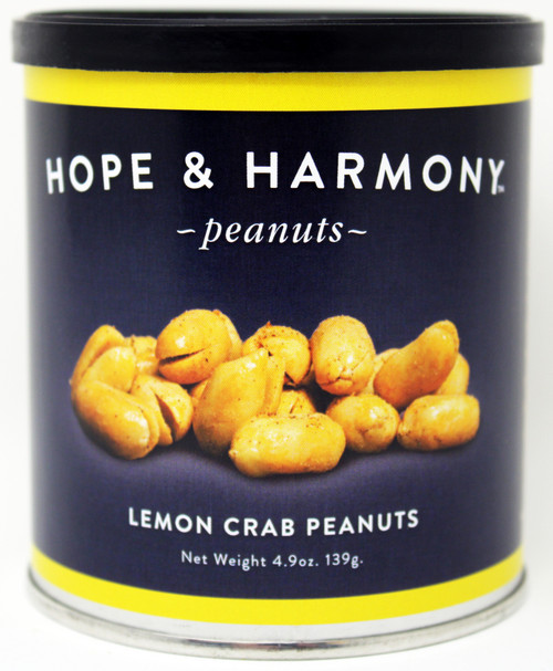 7705 4.9oz Lemon Crab Peanuts Best By Date: 2/16/2022 Hope & Harmony Peanuts are a select variety of nuts chosen for their classic style and flavor.  High quality is assured through our strict adherence to our time honored Virginia recipe.