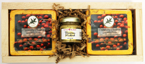 Gift 109 Northwoods Cheese CranFest Cheese Tray , Cranberry Cheddar Cheese, Shelf Stable, perfect Father's Day Gift, Gourmet Food, Gift Baskets