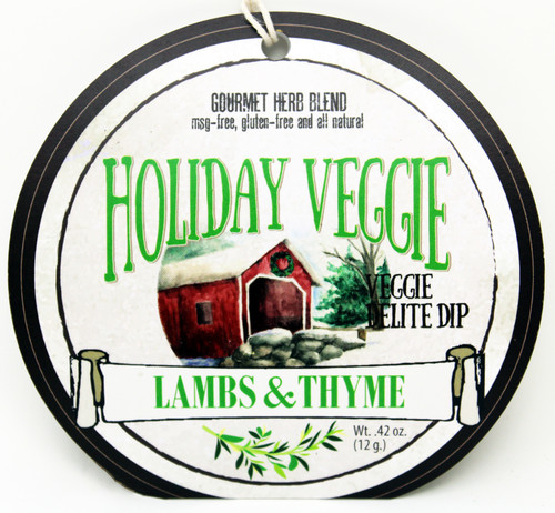7505 Holiday Veggie Dip .42oz, Made in Wisconsin No MSG, Gluten Free and all natural