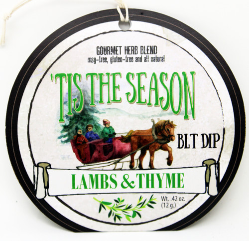 7507 'Tis the Season Dip BLT (Bacon, Lettuce, Tomato) .42oz  Made in Wisconsin, No MSG, Gluten Free, All Natural