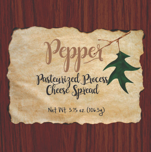 1137 3.75oz Wood Grain Pepper Cheese Spread Box Shelf Stable Cheese Spread