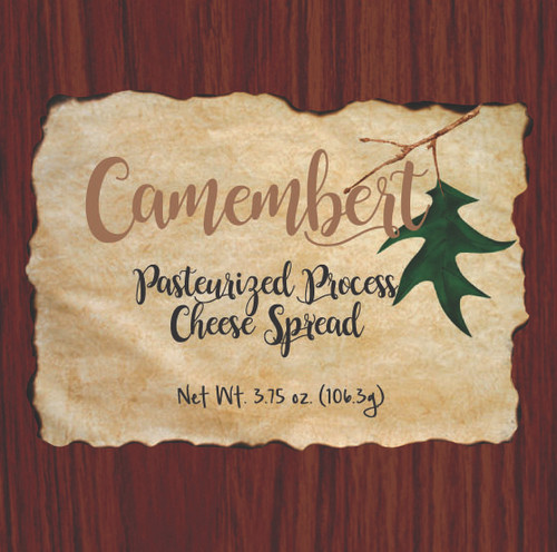 1138 3.75oz Wood Grain Camembert Cheese Spread Box-Shelf Stable Cheese Spread