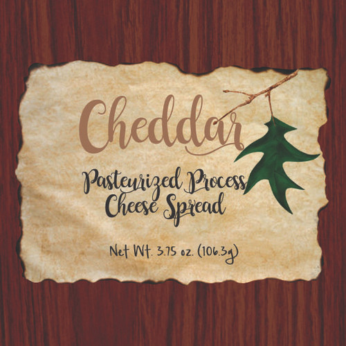 1139 3.75oz Wood Grain Cheddar Cheese Spread Box- Shelf Stable Cheese Spread