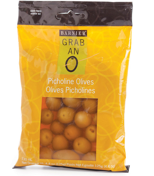 8073 4.4oz Picholine Olives  This world-class olive is crisp yet tender with a fresh taste. They are perfect, all-purpose green olives that are great for antipasti platters.