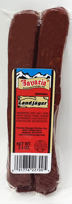 7011 Landjager Pairs 2.4 oz, Shelf Stable, All Beef