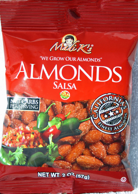 8193 2oz Madi K Spicy Salsa Almonds Red Bag