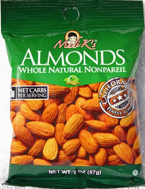 8194 2oz Madi K Natural Almonds Green Bag