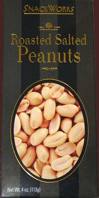 6156 4 oz Roasted Salted Peanuts SnackWorks Best By Date 11/2021