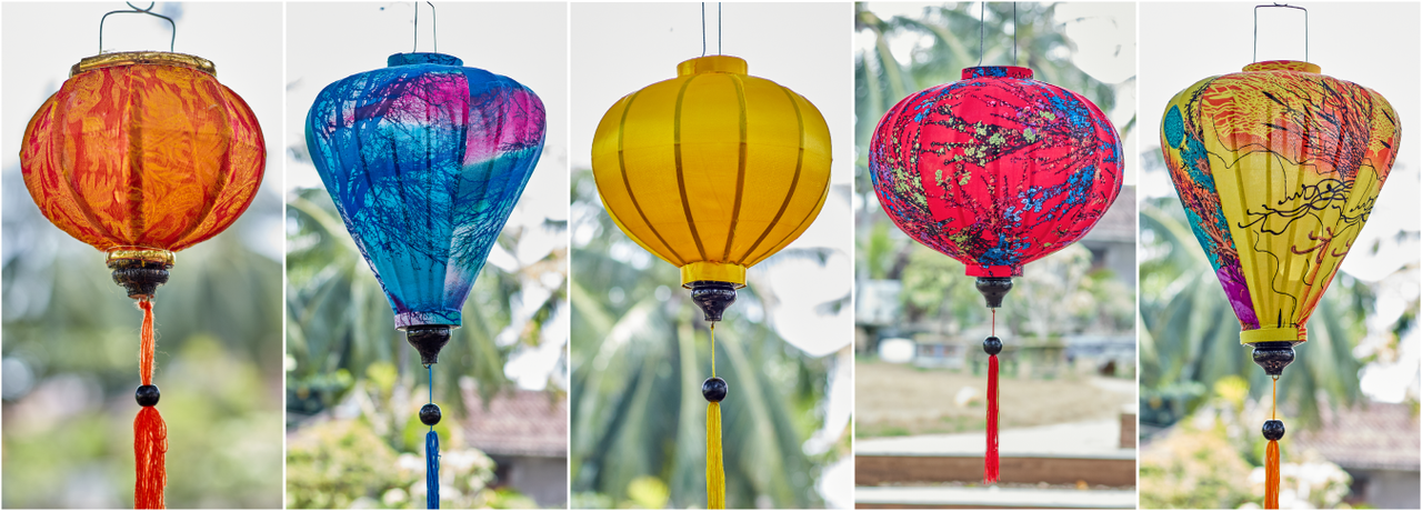 Silk Lanterns - The quintessential symbol of Hoi An! Order yours online today with FREE SHIPPING anywhere in Vietnam