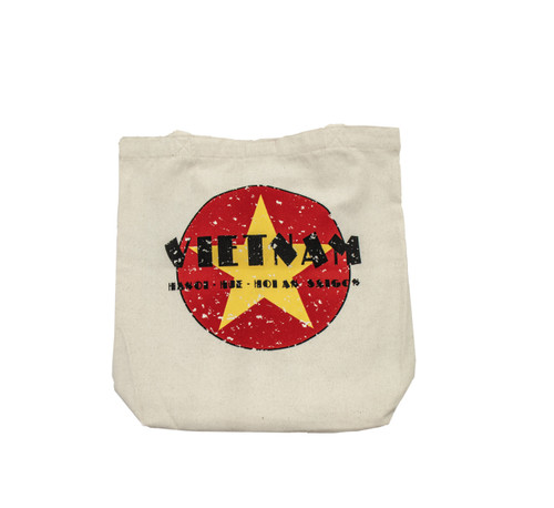 A highly fucntional classic tote bag with an original, eye-catching, uniquely Vietnamese design.