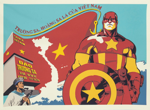 A quirky, original take on a classic hero - Captain Vietnam is the people's hero! High quality screenprint on eco-friendly unbleached paper