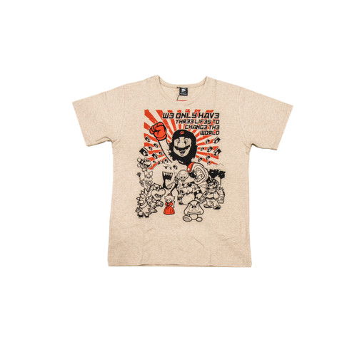 A mashup for the ages, this unique design from Papaya pays homage to pop culture heroes from all over the globe