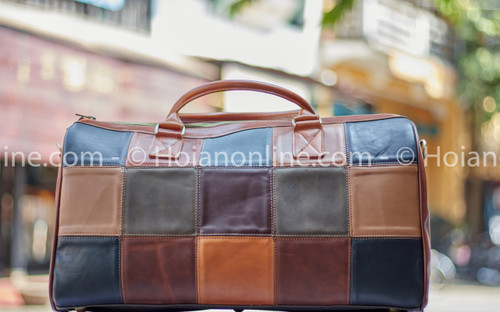 Travel in style with this beautiful, durable, high-quality handmade buffalo leather duffel bag. Perfect for weekends or short trips.