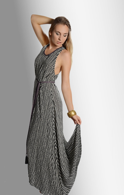 Flowing Stripes Dress