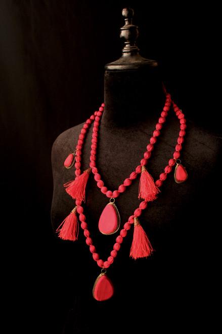 Medallion & Tassel Necklace
