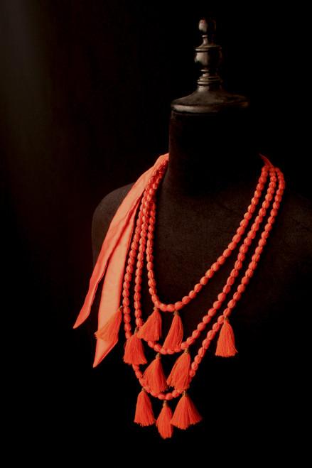 Triple String Tassel Necklace