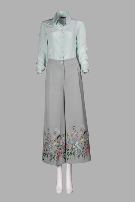Silk blouse  and trousers