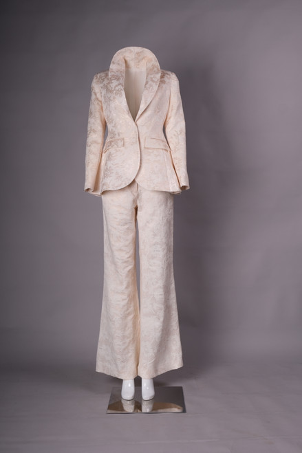 Silk brocade suit