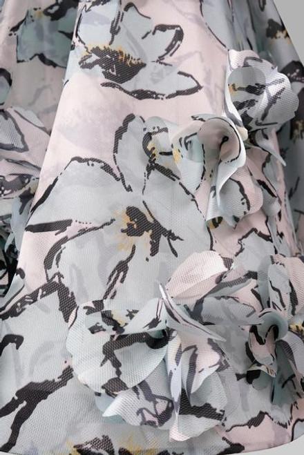 Strapless sweetheart neckline tulle 3D dress