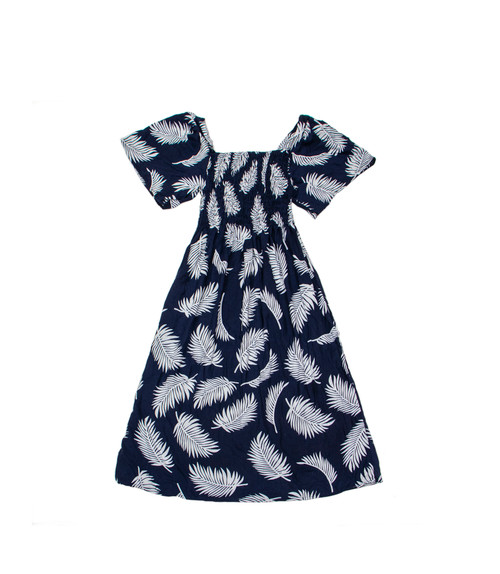 100% Handmade Blue with White Fern patterned Fruit Suit Dress. Hilariously loud, yet cool, cheap, fun and easy to wear. Get some for the whole group!
