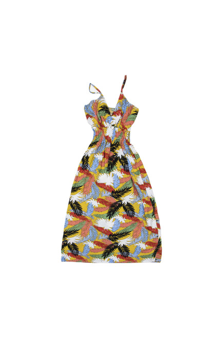 100% Handmade Autumn Leaves patterned Fruit Suit Dress. Hilariously loud, yet cool, cheap, fun and easy to wear. Get some for the whole group!