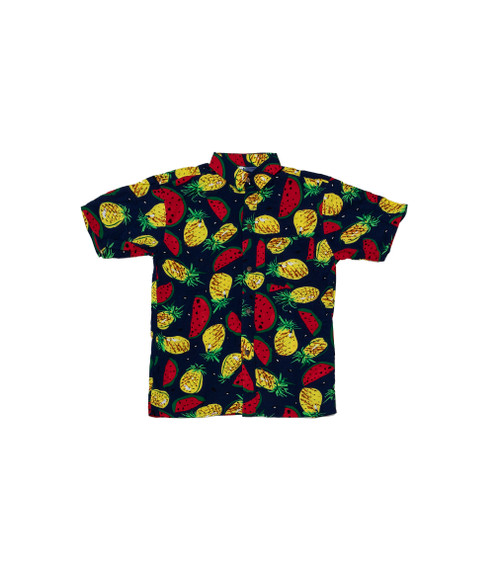 100% Handmade Pineapple & Watermelon Fruit Suit Shirt. Hilariously loud, yet cool, cheap, fun and easy to wear. Get some for the whole group!