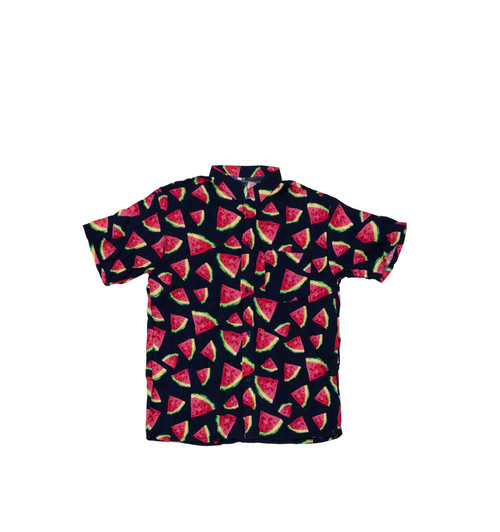 100% Handmade Watermelon Fruit Suit Shirt. Hilariously loud, yet cool, cheap, fun and easy to wear. Get some for the whole group!