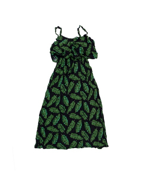 100% Handmade Banana Leaf patterned Fruit Suit Dress. Hilariously loud, yet cool, cheap, fun and easy to wear. Get some for the whole group!