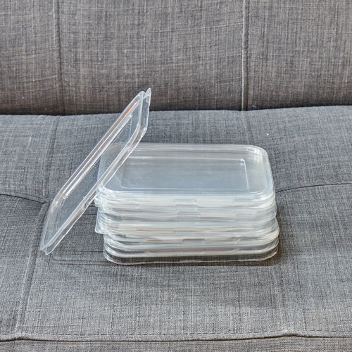 Lid for 600ml food trays, made from 100% recycleable plastic