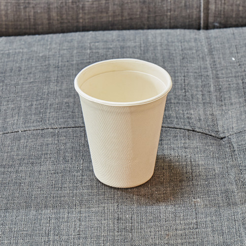 260ml takeaway cup made from 100% compostable plant fiber, no lid