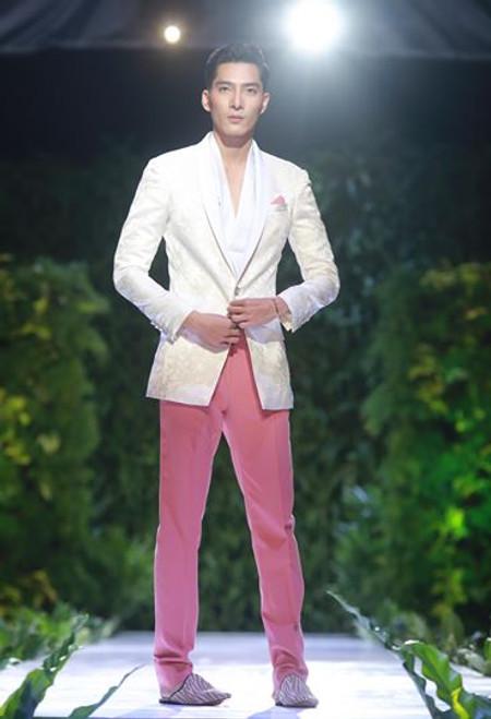 Brocade Evening Blazer and Chino Pants