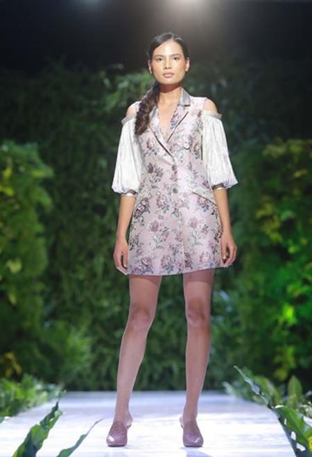 Floral Blazer Cold Shoulder Dress