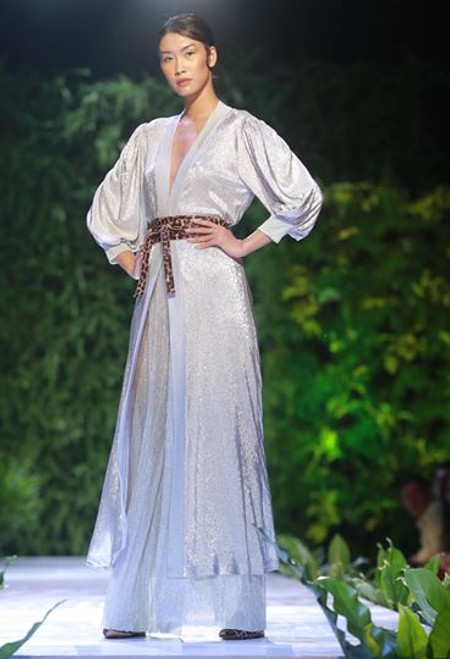 Silver Trimmed Robe