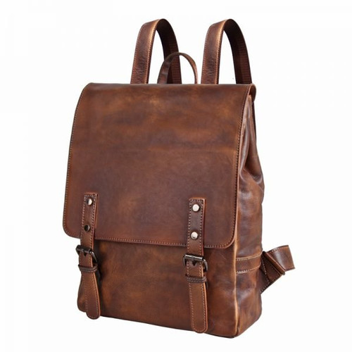 Backpack made of authentic cowhide leather 002