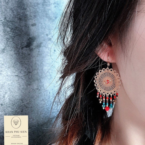 Bohemian earrings -  Circle