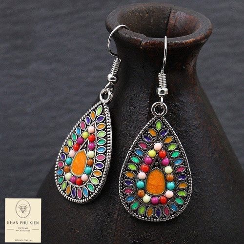 Bohemian earrings -  Droplets