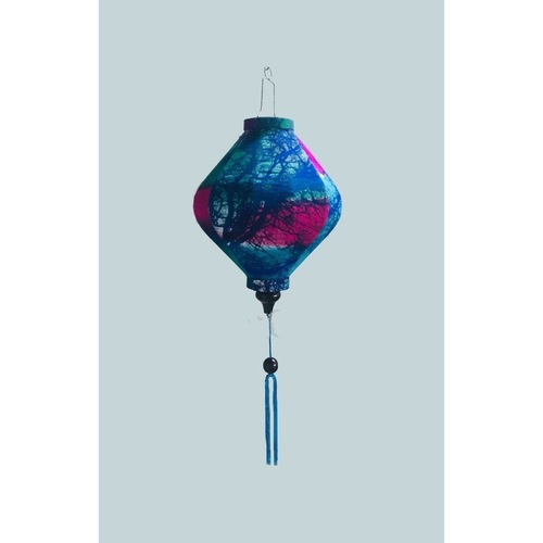 Blue and Purple Silk Lantern - large size