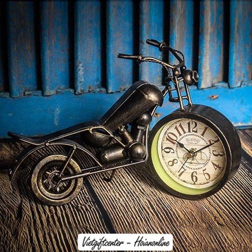 Vintage motorbike clock