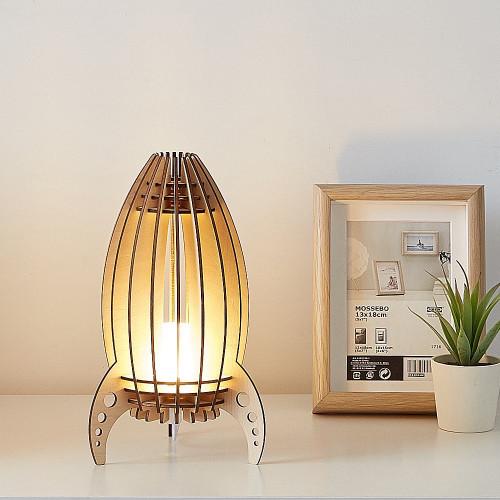 Wooden Rocket Lamp - Table lamp