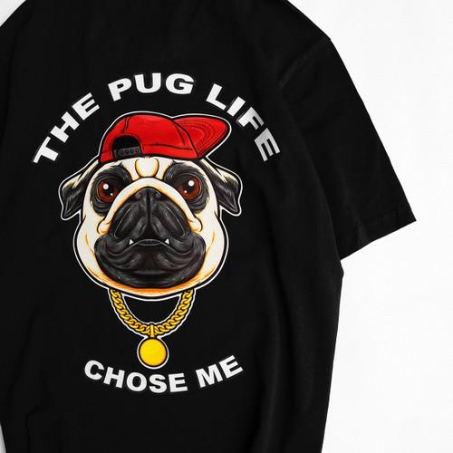 Cotton T-shirt The Pug Life