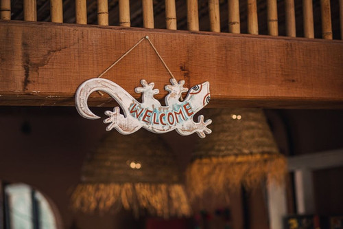 Handcrafted Welcome Board - Natural wood