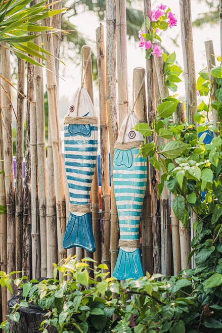 Handcrafted Wooden Fish Decoration - Natural Wood