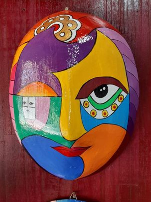 Carnival Woman Face Mask - 08 Abstract Art