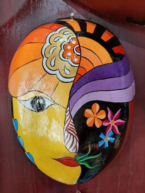 Spring Inspiration - Woman Face Mask - 09 Abstract Art